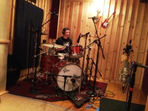 Greg Marra's friend Chris from Pennsylvania recording some durms