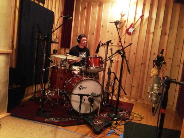 Chris Compton recording some durms