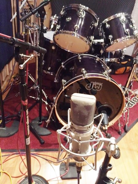 Sound Palace Blog - Tracking Drums for the band Cherry Bomb